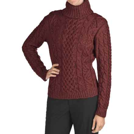 Peregrine Turtleneck Sweater - Peruvian Merino Wool (For Women) in Shiraz - Closeouts