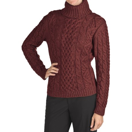 Peregrine Turtleneck Sweater - Peruvian Merino Wool (For Women)