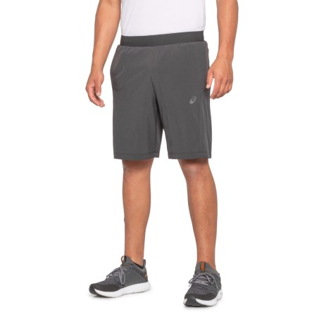 Perforated Training Shorts - 9? (For Men) - CHARCOAL HEATHER/BLACK (S )