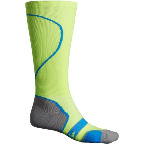 Performance-Compression Socks - Over the Calf (For Men and Women) - CITRON (M )