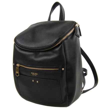 Perlina Claire Backpack - Leather (For Women) in Black - Closeouts