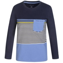 Perry Ellis English Stripe T-Shirt - Long Sleeve (For Big Boys) in English Manor - Closeouts