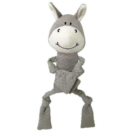 Pet Lou EZ Donkey Dog Toy in See Photo