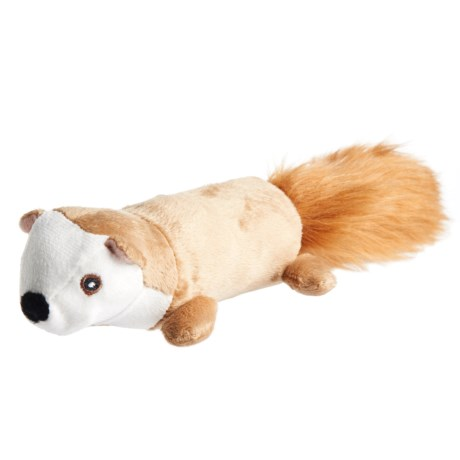Pet Lou EZ Squirrel Dog Toy - Squeaker in See Photo