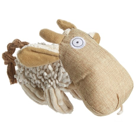 Pet Lou Natural Cow Dog Toy - Squeaker in See Photo