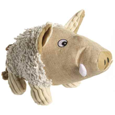 "Pet Lou Natural Warthog Dog Toy - 15"" in See Photo - Closeouts"