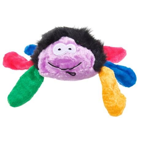 Pet Lou Rainbow Spider Dog Toy - Squeaker in Multi