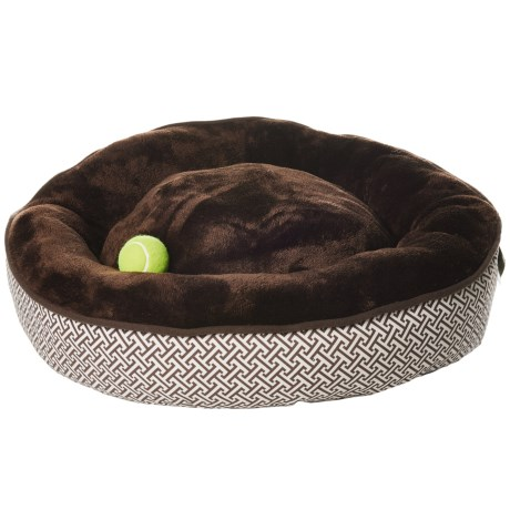 """Pet Maison Puzzle Donut Dog Bed - 27"""" in Chocolate"""