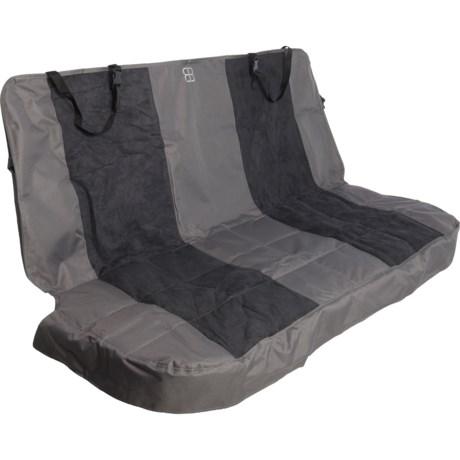 PetEgo Emanuele Bianchi Design Velvet Multi-Fabric Hammock Seat Protector - Extra Large in Black