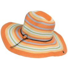 Peter Grimm Lilly Sun Hat - Straw (For Women) in Orange - Closeouts