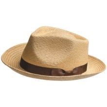 Peter Grimm Sicily Fedora Hat - Palm Leaf Straw (For Men) in Tan - Closeouts