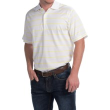 Peter Millar Alex Polo Shirt - Sunburst Stripe, Short Sleeve (For Men) in White/Sunburst - Closeouts