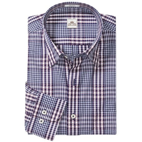 Peter Millar Bainbridge Fancy Shirt - Long Sleeve (For Men) in Navy