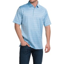 Peter Millar Barker Polo Shirt - Ceramic Stripe, Short Sleeve (For Men) in Ceramic - Closeouts