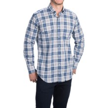 Peter Millar Cambridge Shirt - Cotton-Linen, Long Sleeve (For Men) in Newport Plaid - Closeouts