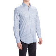 Peter Millar Cambridge Shirt - Cotton-Linen, Long Sleeve (For Men) in Newport Tattersall - Closeouts