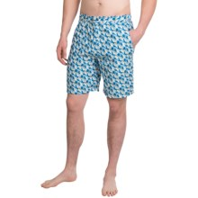 Peter Millar Camo Swim Trunks (For Men) in Amalfi Blue - Closeouts
