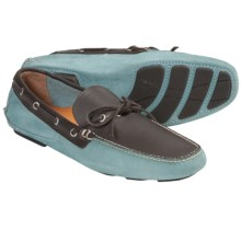Peter Millar Capri Driving Moccasins (For Men) in Tar Heel Blue - Closeouts