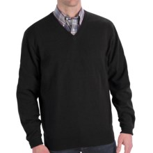 Peter Millar Cashmere Sweater - V-Neck (For Men and Tall Men) in Black - Closeouts
