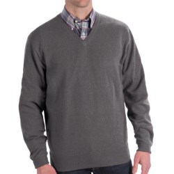Peter Millar Cashmere Sweater - V-Neck (For Men and Tall Men) in Charcoal
