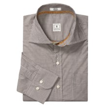 Peter Millar Check Shirt - Cutaway Spread Collar, Long Sleeve (For Men) in Caramel - Closeouts