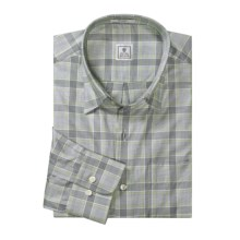 Peter Millar Classic Plaid Shirt - Long Sleeve (For Men) in Black - Closeouts