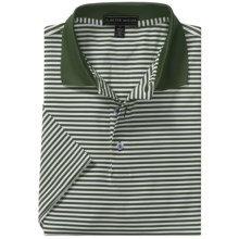 Peter Millar Competition Stripe Summer Comfort Polo Shirt - Stretch Jersey, Short Sleeve (For Men) in Loden - Closeouts