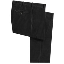 Peter Millar Corduroy Pants - Pima Cotton, Flat Front (For Men) in Black - Closeouts