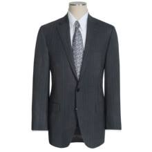 Peter Millar Flynn Wool Suit - Beaded Multi-Stripe (For Men) in Charcoal/Blue - Closeouts