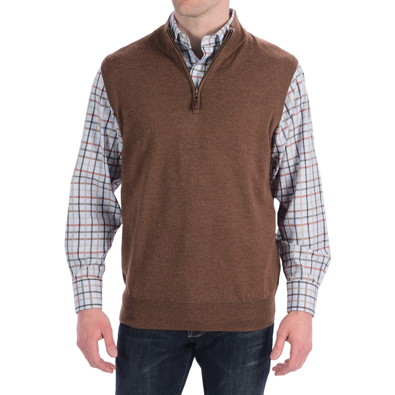 Zip Sweater Vest - Sweater Scarf