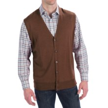 Peter Millar Italian Merino Wool Vest (For Men) in Wicker - Closeouts