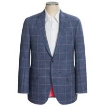 Peter Millar Justice Carlo Barbera Windowpane Sport Coat - Linen-Wool (For Men) in Navy - Closeouts