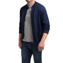 Peter Millar Linen Cardigan Sweater (For Men) in Navy - Closeouts