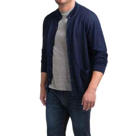 Peter Millar Linen Cardigan Sweater (For Men) in Navy - Closeouts