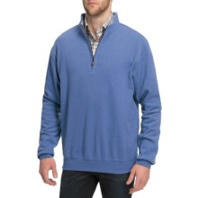 Peter Millar Melange Fleece Sweater - Zip Neck (For Men) in Crb - Closeouts