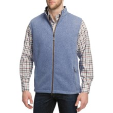 Peter Millar Melbourne Sweater Vest - Full Zip, Fleece (For Men) in Carbon - Closeouts