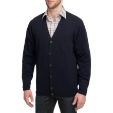 Peter Millar Merino Wool Cardigan Sweater (For Men) in Navy - Closeouts