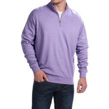 Peter Millar Parade Heathered Interlock Cotton Pullover Shirt - Zip Neck, Long Sleeve (For Men) in Parade - Closeouts