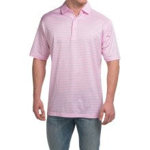 Peter Millar Pat Cotton Lisle Polo Shirt - Retro Pink Stripe, Short Sleeve (For Men) in Retro Pink - Closeouts