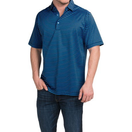 Peter Millar Pat Cotton Lisle Polo Shirt Short Sleeve (For Men)