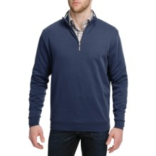 Peter Millar Satin-Washed Sweater - Pima Cotton, Zip Neck (For Men) in Navy - Closeouts