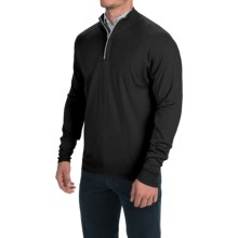 Peter Millar Silk-Cashmere Sweater - Zip Neck (For Men) in Black - Closeouts