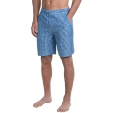 Peter Millar Summer Check Swim Trunks (For Men) in Amalfi Blue - Closeouts