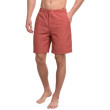 Peter Millar Summer Check Swim Trunks (For Men) in Bermuda Pink - Closeouts
