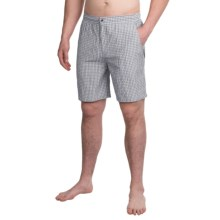 Peter Millar Summer Check Swim Trunks (For Men) in Light Grey - Closeouts
