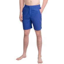 Peter Millar Summer Solid Swim Trunks (For Men) in Amalfi Blue - Closeouts