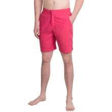 Peter Millar Summer Solid Swim Trunks (For Men) in Bermuda Pink - Closeouts