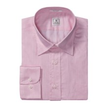 Peter Millar Vespa Collar Dress Shirt - Striped, Long Sleeve (For Men) in Pink - Closeouts