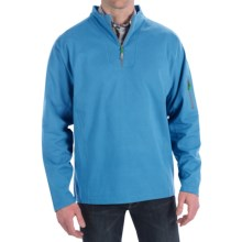 Peter Millar Whistler Wind Suede Pullover - Zip Neck, Long Sleeve (For Men) in Harbor Blue - Closeouts