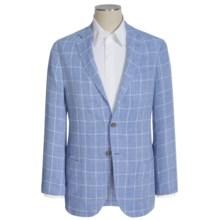 Peter Millar Windowpane Linen Soft Sport Coat (For Men) in Newport - Closeouts